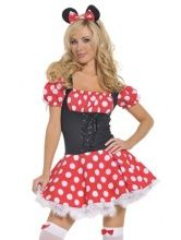 http://passionlingerie.net/products/new-fuzzy-trim-wave-lap-lace-up-belted-green-christmas-costume-4055.htmlLovely Candy Girl Costume with corset styledcandy dress with choker. Candy bar not included. Stockings are not included but can be purchased separately.