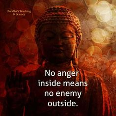I'm not angry and am at peace with myself and the world.