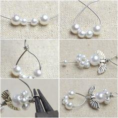 How to Make Angel Earrings http://tech.beads.us/details-How-to-Make-Angel-Earrings-3131.html