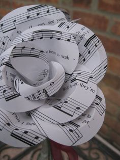 BEYONCE HALO Sheet Music Paper Roses Valentine by TreeTownPaper, $24.00