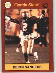 1990-91 Florida State Collegiate Collection (1991) #145 Deion Sanders - FSU…