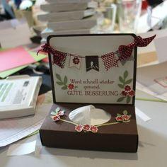 SU Get Well Soon Kleenex box. Paper Cards, Diy Paper, Scrapbooking, Scrapbook Cards, Craft Packaging, Get Well Soon, Get Well Cards, Card Making Inspiration, Diy Box