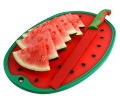 Dexas watermelon knife and cutting board.  www.Dexas.com