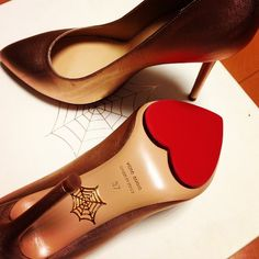 Love those soles! By Charlotte Olympia Sock Shoes, Cute Shoes, Me Too Shoes, Fashion Heels, Fashion Boots, Lizzie Hearts, Shoe Advertising, Olympia Shoes, Types Of Heels