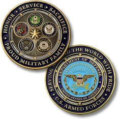 Hobby Coin Collecting Products - Proud Military Family Challenge Coin ** You can find more details by visiting the image link. Military Pins, Military Love, Military Veterans, Military Personnel, Military Brat, Military Families, Military Jacket, Go Navy, Navy Mom