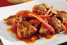 Amateur Cook Professional Eater - Greek recipes cooked again and again: Beef with paprika and yoghurt Cyprus Food, Food Network Recipes, Cooking Recipes, The Kitchen Food Network, Spiced Beef, Greek Cooking, Food Categories, Fish Dishes, Greek Recipes