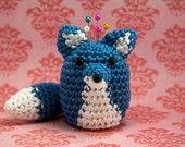 Adorable cute fox pin cushion