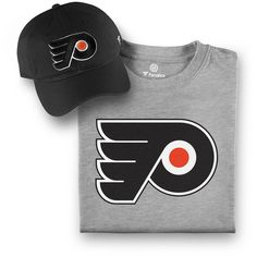 dacf6d89 Men's Philadelphia Flyers Fanatics Branded Black/Gray T-Shirt and Hat  Bundle,