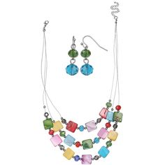 Mixit Womens 2-pc. Jewelry Set ($9) ❤ liked on Polyvore featuring jewelry, mixit jewelry, set jewelry and mixit