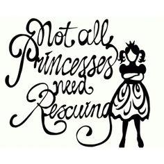 Silhouette Design Store - View Design #64545: not all princesses...