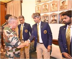 General  Bipin Rawat #COAS felicitated #IndianPoloTeam today.The Indian Polo Team will be representing the country in the #http://PoloWorldCup2017pic.twitter.com/Rjd8Su8OSV #IndianArmy #Army