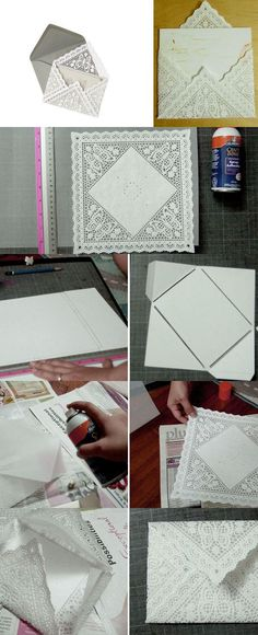 Do-It-Myself Lace Paper Envelope DIY