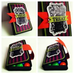 SU treat box - love the banner strip to keep the box closed - bjl