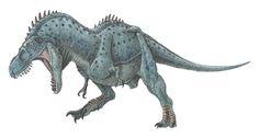 Tarbosaurus bataar aka Tyrannosaurus bataar - a vicious meat-eating tyrannosaur dinosaur.