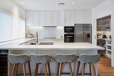 Caesarstone Quartz Colours for Kitchens & Bathrooms Kitchen Colors, Kitchen Design, Calacatta Nuvo, Engineered Stone, Splashback, Traditional Design, Design Inspiration, Indoor, Interior Design