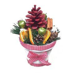 Karácsonyi asztaldísz narancsszeletekkel