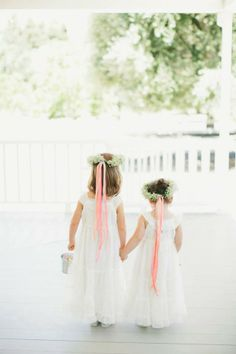 Not to upstage the bride, but how cute are these #Flowergirls! Credit from @onelove photography