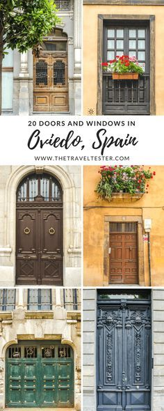 Follow The Travel Tester on a walking tour of the old town of Oviedo in Asturias, Spain and discover some pretty incredible doors & windows || The Travel Tester