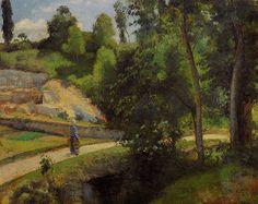 The Quarry, Pontoise by @artpissarro #impressionism