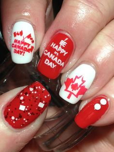 With Canada Day around the corner, I started wearing Canada Day mani's this weekend. I've also been sharing throwback mani's on IG all wee. Canada Leaf, Canada Day Party, Hollywood Nails, Happy Canada Day, Instagram Nails, Artwork Design, Holiday Nails, Nail Art Designs, My Nails