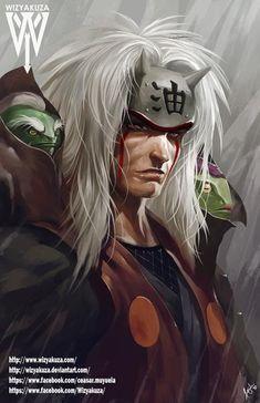 Jiraya by Wizyakuza - Naruto Naruto Shippuden Sasuke, Anime Naruto, Naruto Fan Art, Manga Anime, Sasuke Sakura, Wallpaper Naruto Shippuden, Naruto Wallpaper, Fanarts Anime, Naruto And Sasuke