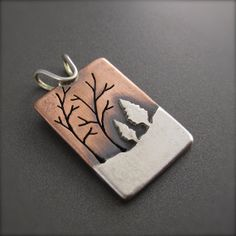 Family Forest Pendant by BethMillnerJewelry on Etsy, $175.00
