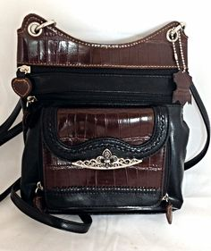 Designer Inspired Cross Body Purse w/ Crocodile Print Trim | The Wanted Wardrobe Boutique