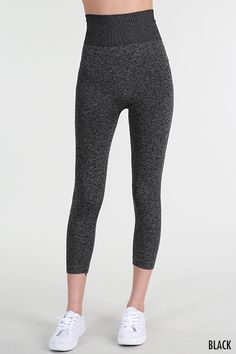 Black Two Tone Dye High Waist Leggings! Great for every day wear or for working out!