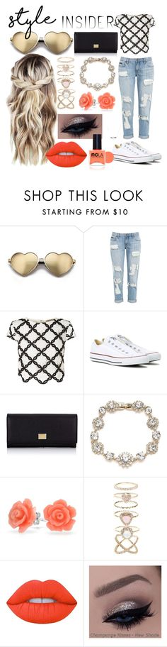 """Untitled #31"" by akchxi ❤ liked on Polyvore featuring Wildfox, Lipsy, Converse, Dolce&Gabbana, Marchesa, Bling Jewelry, Accessorize, Lime Crime, ncLA and contestentry"