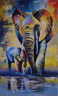 African oil painting mama and baby elephant 24 8243 W x 36 8243 H African oil painting mama and baby elephant 24 8243 W x 36 8243 H Manuela Fuhrmann fuhrmannsteffen Acrylbilder African oil painting mama nbsp hellip Painting inspiration African Art Paintings, Oil Pastel Paintings, Oil Pastel Art, Oil Pastel Drawings, Oil Painting Abstract, Animal Paintings, Art Drawings, Knife Painting, Paintings Of Elephants