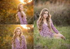 Golden hour sunset senior portrait session in grassy fields, senior posing, high school senior pic ideas, Holly Davis Seniors   The Woodlands, Texas