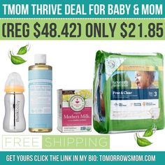 Natural Baby Deal!! Get this or create your own bundle! only $21.85Free Shipping! The toxic Free bottle alone is $13! See details GO to link in my bio @tomorrowsmom . . . . Visit My Blog: TomorrowsMom.com |Organic & Natural Deals|Family Savings Deals| . TAG OR DM THIS DEAL 2 A FRIEND . . #frugal #savings #deals #cosmicmothers  #organic #fitmom #health101 #change #nongmo #organiclife #crunchymama #organicmom #gmofree #organiclifestyle #familysavings  #healthyhabits #lifechanging #fitpeople…
