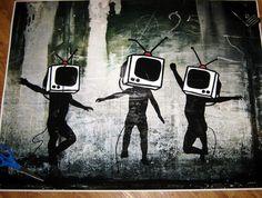 Banksy Custom Print 18x24 TV Heads by daveyknew84 on Etsy, $18.99