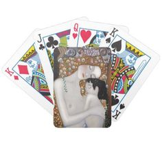 My Klimt Serie : Mother & Child Bicycle Playing Cards - classic gifts gift ideas diy custom unique