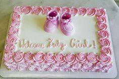Torta Baby Shower, Tortas Baby Shower Niña, Girl Shower Cake, Baby Shower Sheet Cakes, Baby Girl Shower Themes, Girl Baby Shower Decorations, Baby Shower Fun, Baby Shower Cake For Girls, Welcome Home Baby