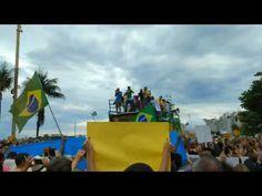 Manifestação hoje pela manhã no Rio de Janeiro em apoio a lava jato e ao...
