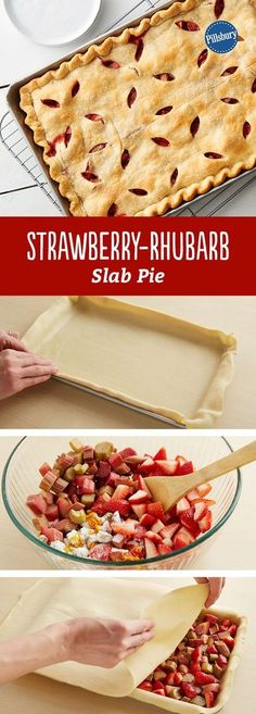Strawberry-Rhubarb Slab Pie Summer is here! And this fresh Strawberry-Rhubarb Slab Pie will be you favorite dessert recipe to bring to BBQs, picnics and potlucks. It preps in just 20 minutes and serves 24 people! Brownie Desserts, Oreo Dessert, Coconut Dessert, Rhubarb Desserts, Strawberry Rhubarb Pie, Just Desserts, Dessert Recipes, Slab Pie, Pie Pie