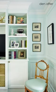 a magical home makeover - home of Jessica Claire, design editor at Style at Home magazine Hygge Home Interiors, Interior Exterior, Interior Design, Family Room, Home And Family, Magical Home, Built Ins, Ideal Home, House Tours