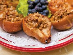 Grilled Stuffed Pears