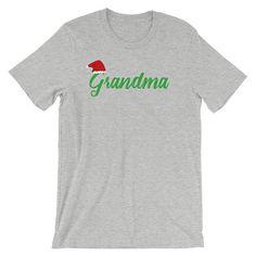 Grandma Christmas Santa Hat Shirt