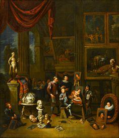 Van den Bossche, Estudio del artista