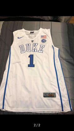 fd4d36e1c55 2018 Men  1 Zion Williamson Duke Blue Devils College Basketball Jerseys  Sale-White
