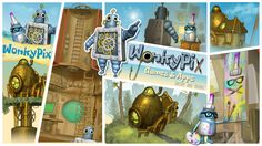 """Launch of the new WonkyPix.com website, please come join us in the fun at www.wonkypix.com where we make games """"Just for You!"""""""