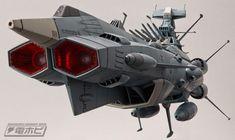 Bandai Space Battleship Yamato Andromeda Star Blazers 2202 Movie Effect Ver. Spaceship Design, Spaceship Concept, Concept Cars, Space Fighter, Star Blazers, Vintage Space, Futuristic Design, Science Fiction Art, Space Crafts