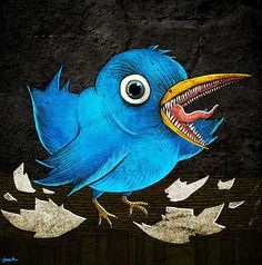 The twit can be found tweeting all over the interwebs.