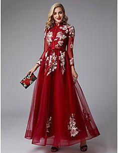 8576cb5c0034 Βραδινά Φορέματα. Γραμμή Α Ζιβάγκο Μακρύ Τούλι Επίσημο Βραδινό Φόρεμα ...