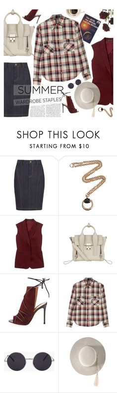 """""""plaid summer shirt"""" by jesuisunlapin ❤ liked on Polyvore featuring Burberry, Gucci, Theory, 3.1 Phillip Lim, Gianvito Rossi and Étoile Isabel Marant"""