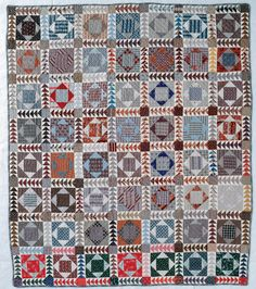 Antique Square in Square with Flying Geese sashing - now I know how to set my blocks!