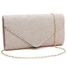 618aa71856f9 Orfila Women Flashing Glitter Clutch Bag Evening Party Handbag Purse Chain Shoulder  Crossbody Bag
