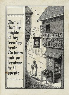 Alice Grover Whitbeck's strolling bookplate